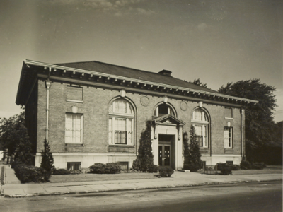 old photo of library building